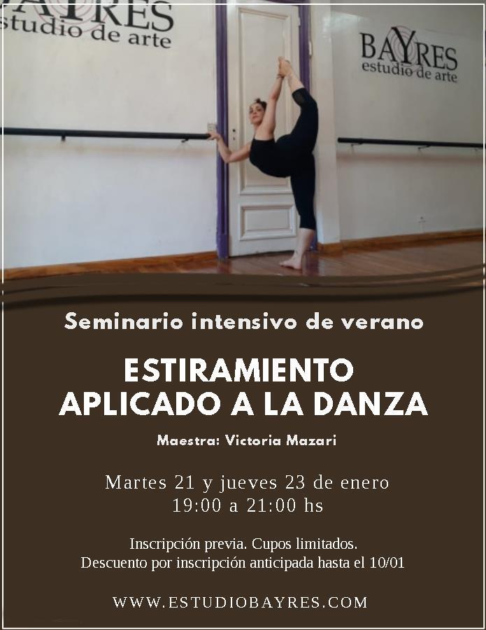 Estiramiento aplicado a la danza - Seminario intensivo de verano