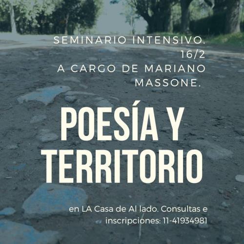 Poesía y territorio.