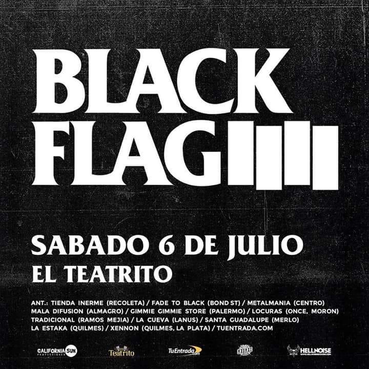 Black Flag llega por primera vez a la Argentina