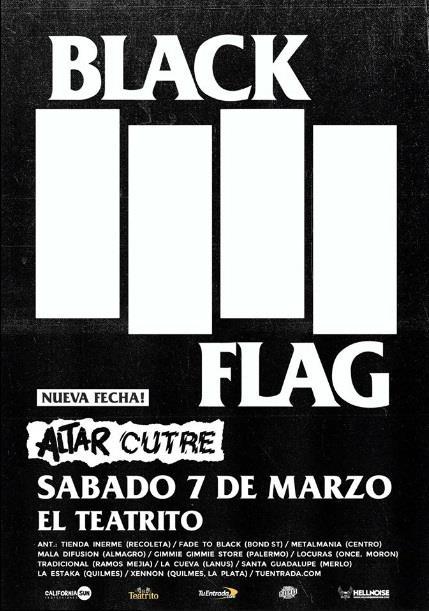 Black Flag por primera vez en Argentina