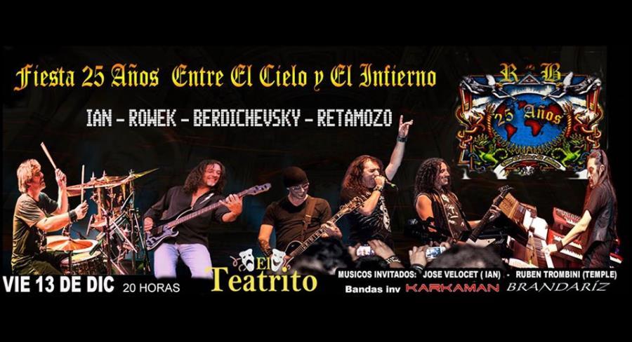"""Fiesta 25 Aniversario """"Entre el Cielo y el Infierno"""""""