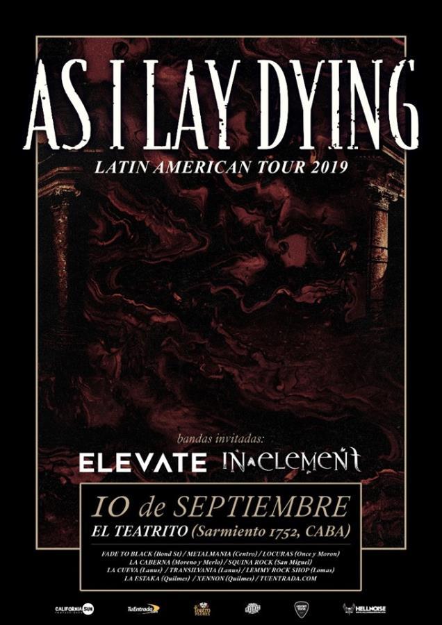 As I Lay Dying regresa en Argentina