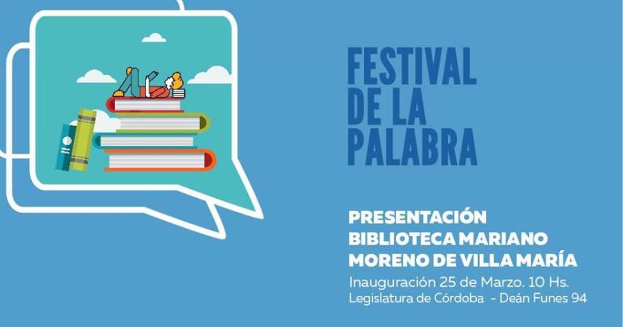Festival de la Palabra: Biblioteca Mun.y Pop. Mariano Moreno