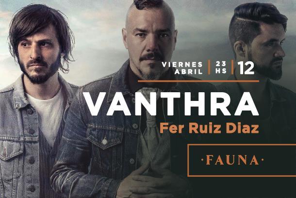Vanthra anuncia su show en Rosario