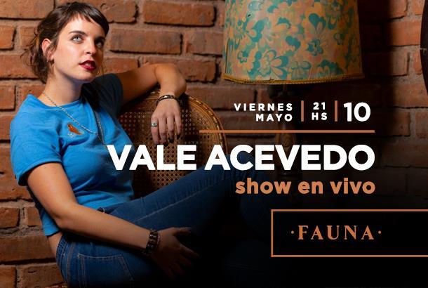 Vale Acevedo en vivo en Rosario