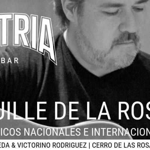 GUILLE DE LA ROSA CON CLÁSICOS NACIONALES E INTERNACIONAL EN PATRIA BAR