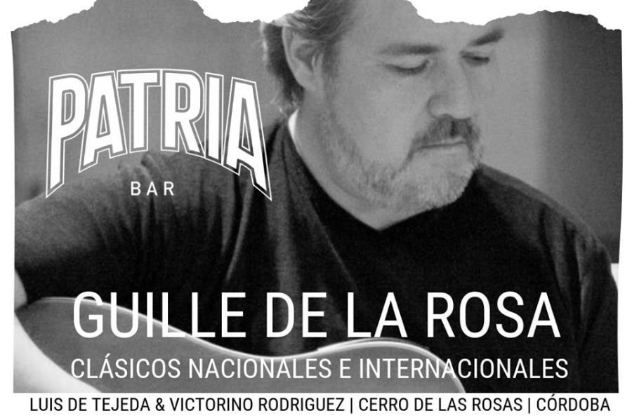 GUILLE DE LA ROSA CANTA CLÁSICOS NACIONALES E INTERNACIONALES EN PATRIA BAR