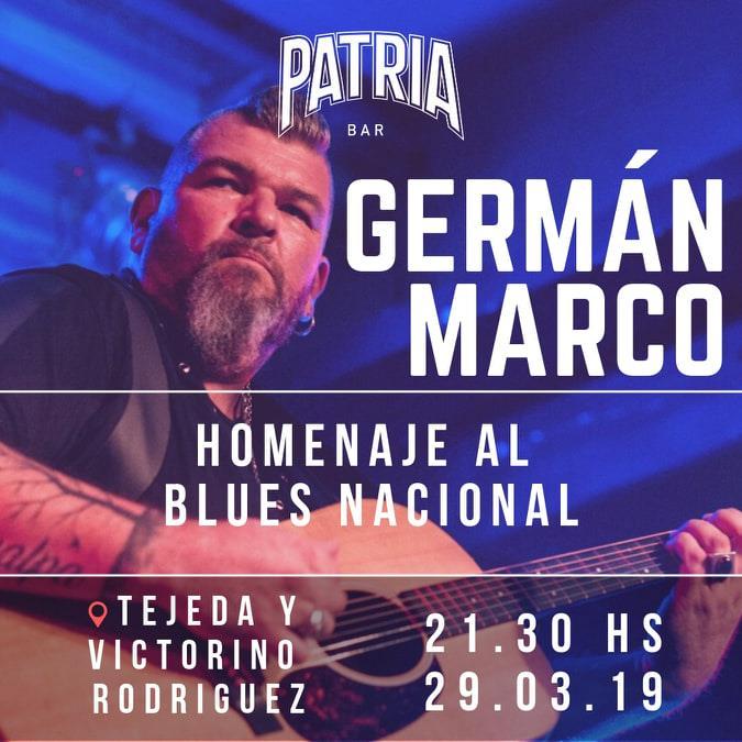 GERMÁN MARCO EN PATRIA BAR