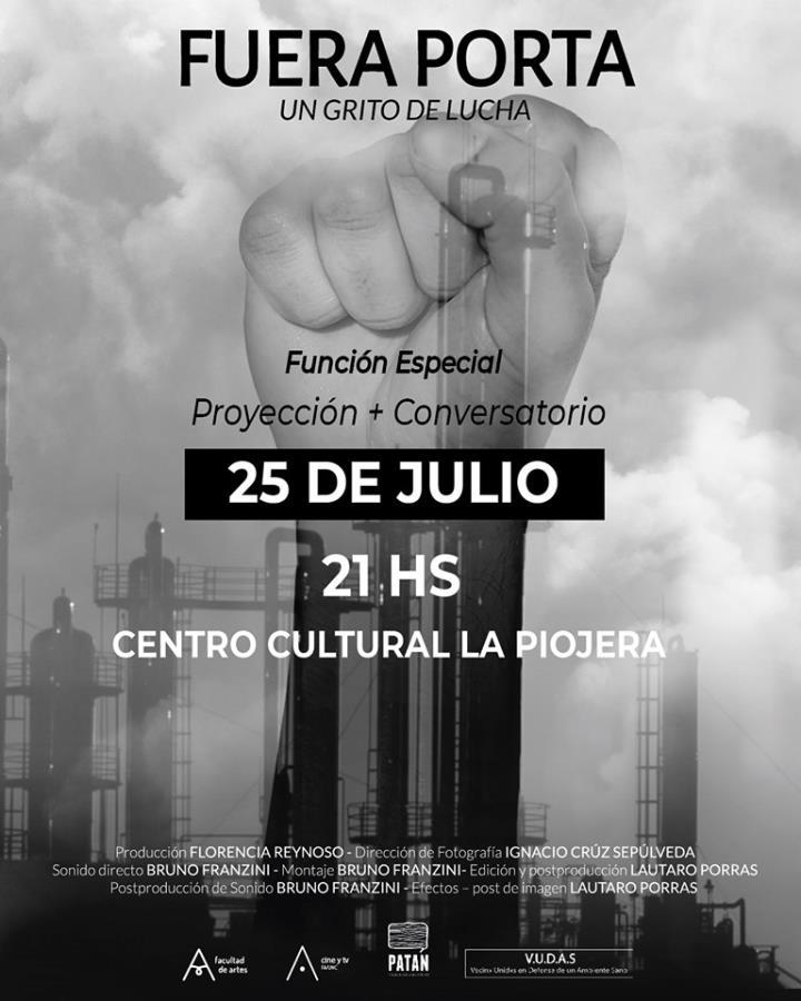 """Proyección: """"Fuera Porta: un grito de lucha"""" + Conversatorio"""