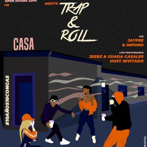 La Crema meets Trap&Roll - Viernes 17/5 #CongaBarrialOrtodoxa @ Casa.Bar