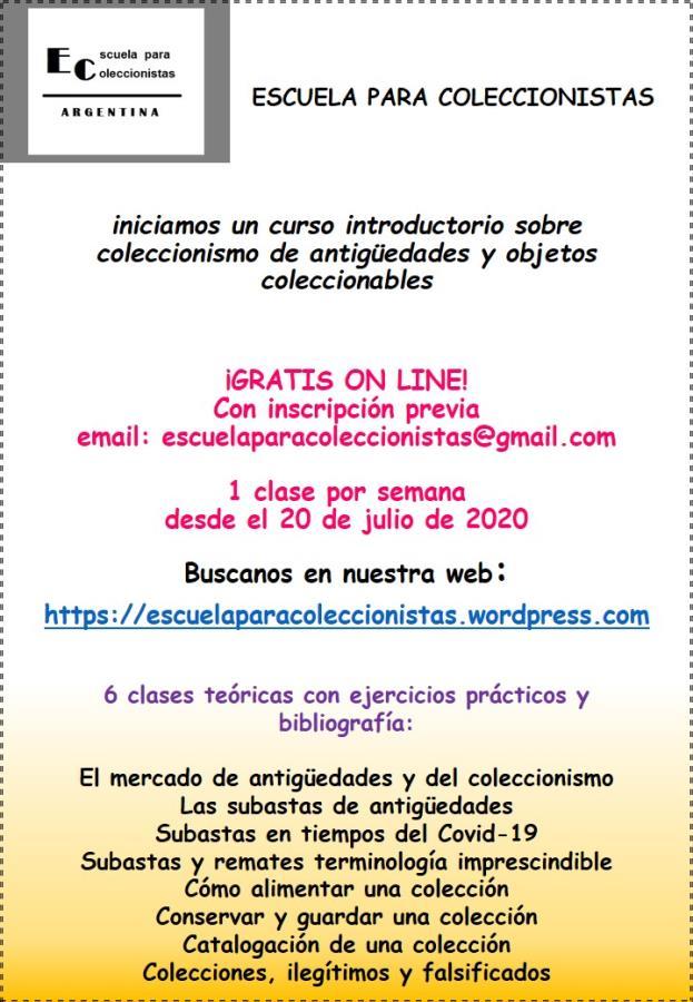 Curso coleccionismo de antigüedades y objetos coleccionables- on line gratuito