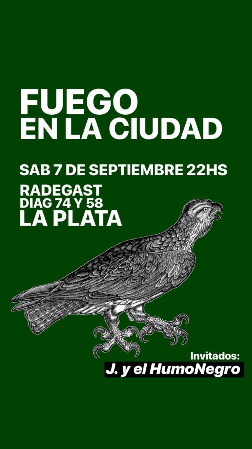 Fuego en la ciudad + J. & el humo negro en La Plata