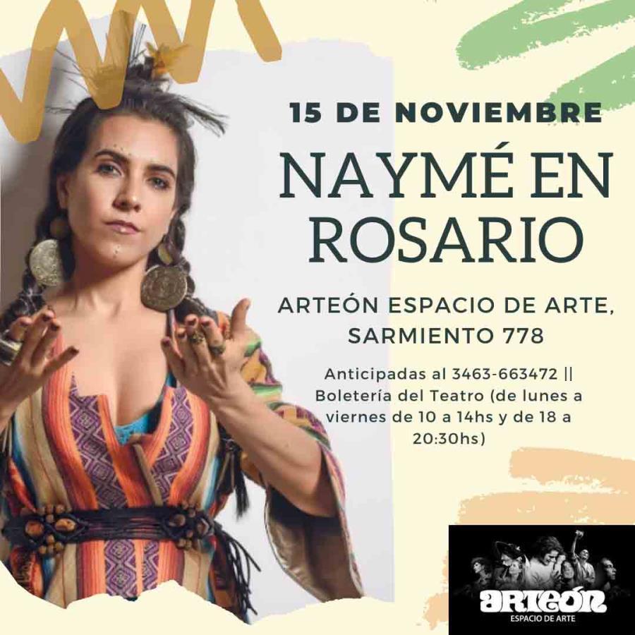 """¡Naymé presenta su nuevo disco """"Intención"""" en Rosario!"""