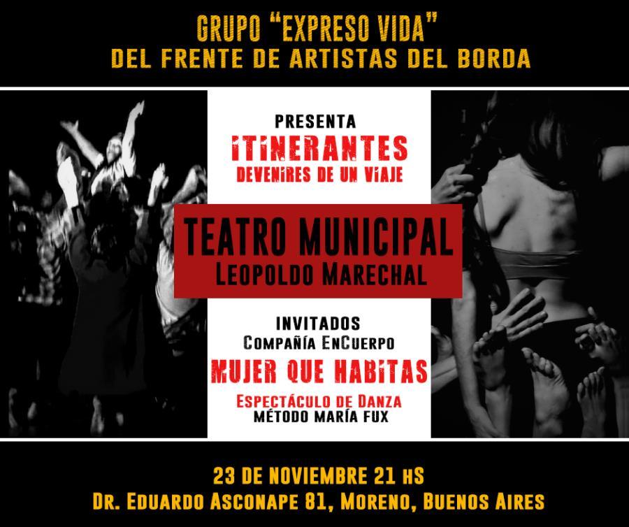 """""""Mujer Que Habitas"""" se Presenta Teatro Municipal Leopoldo Marechal MORENO"""