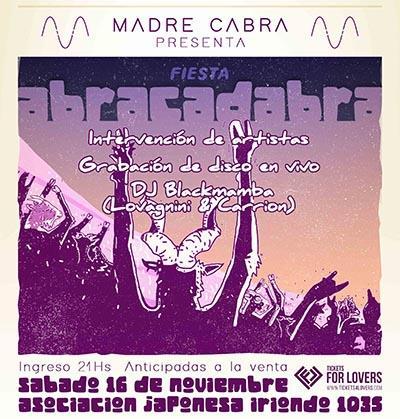 ¡Madre Cabra presenta Fiesta Abracadabra