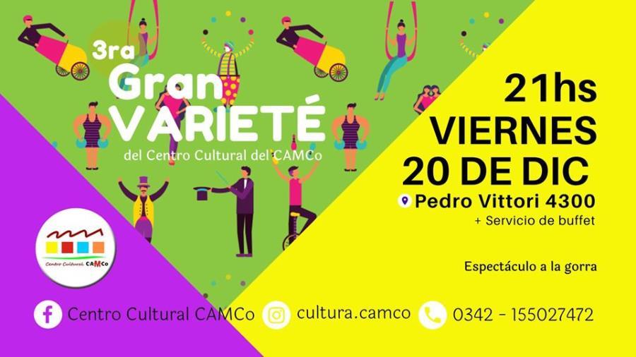 3era GRAN Varieté del Centro Cultural CAMCo ¡Última del año!