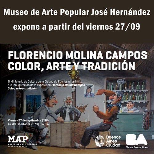 Molina Campos en el Hernández