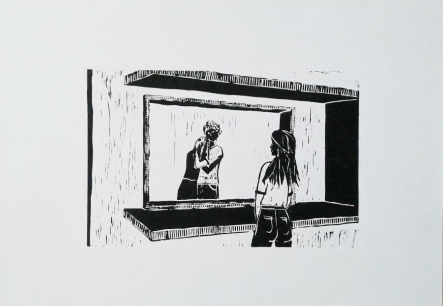 grabado sobre papel  (35x50)