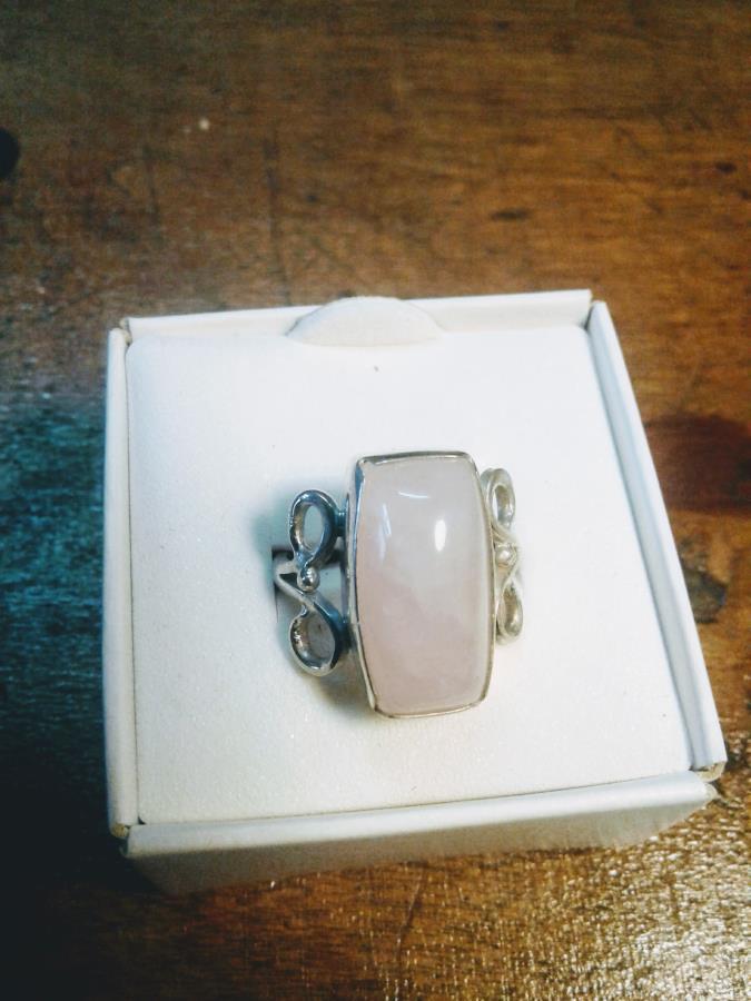 cuarzo rosa en plata