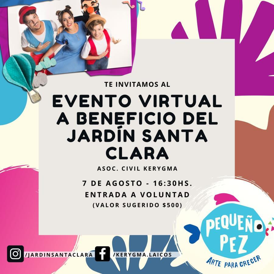 Evento Virtual a Beneficio del Jardín Santa Clara