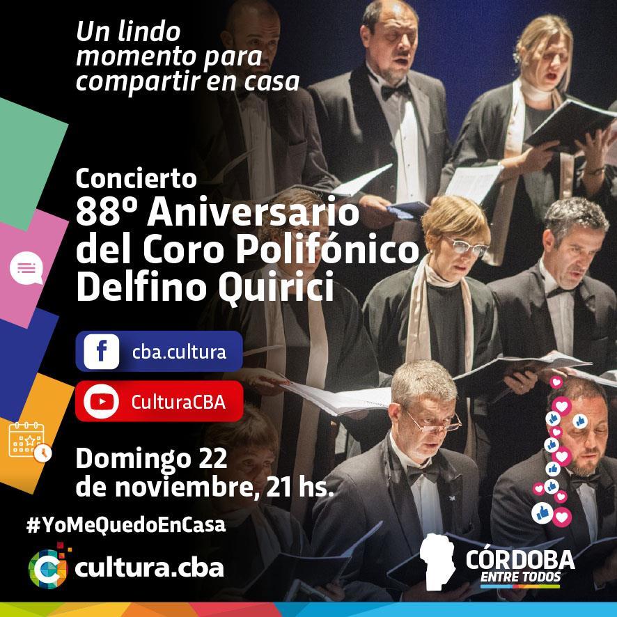 88° aniversario del Coro Polifónico Delfino Quirici