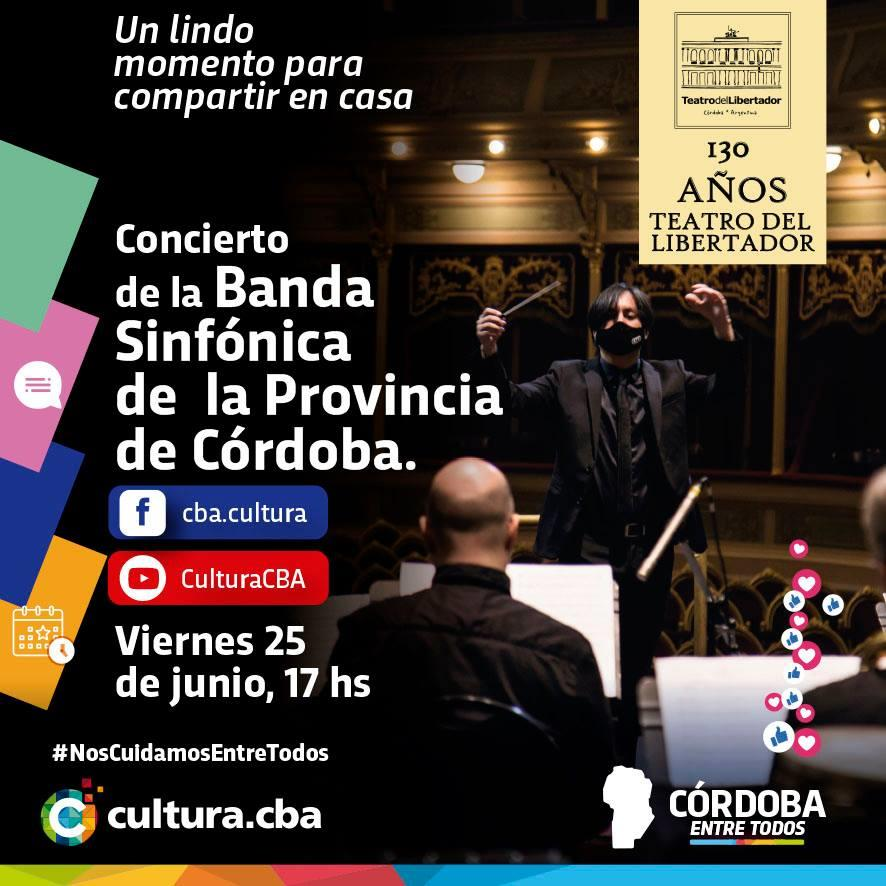 Concierto de la Banda Sinfónica de  la Provincia de Córdoba.
