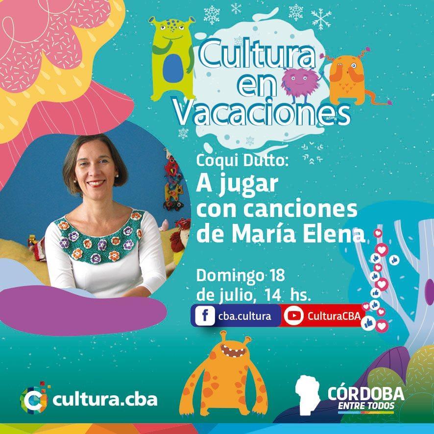 Cultura en vacaciones: Coqui Dutto, a jugar con canciones de María Elena (teatro)