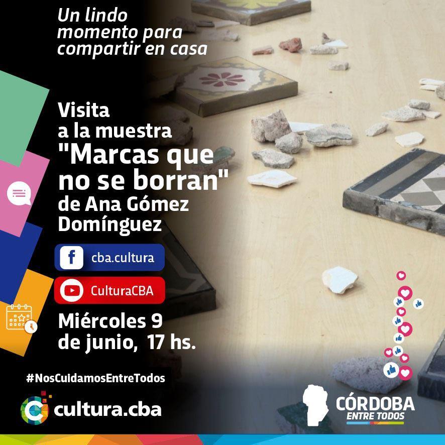 Visita a la muestra Marcas que no se borran de Ana Gómez Domínguez