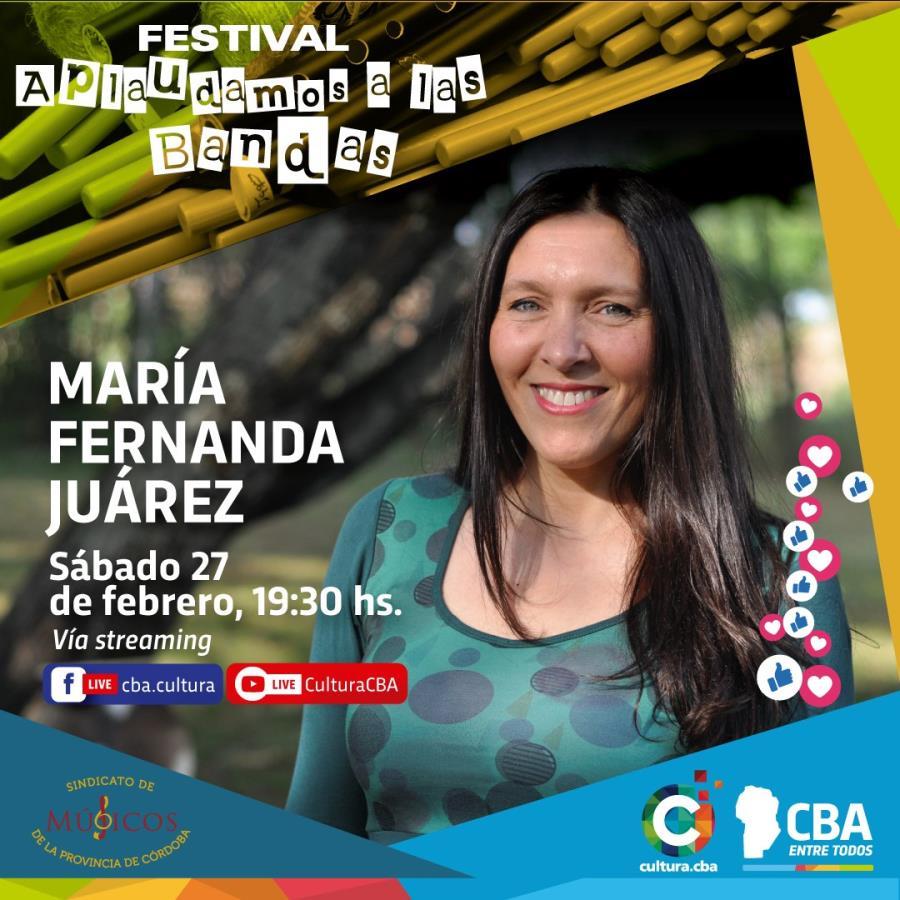 Festival Aplaudamos a las bandas: María Fernanda Juárez