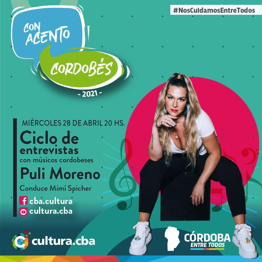 Con acento cordobés: Puli Moreno