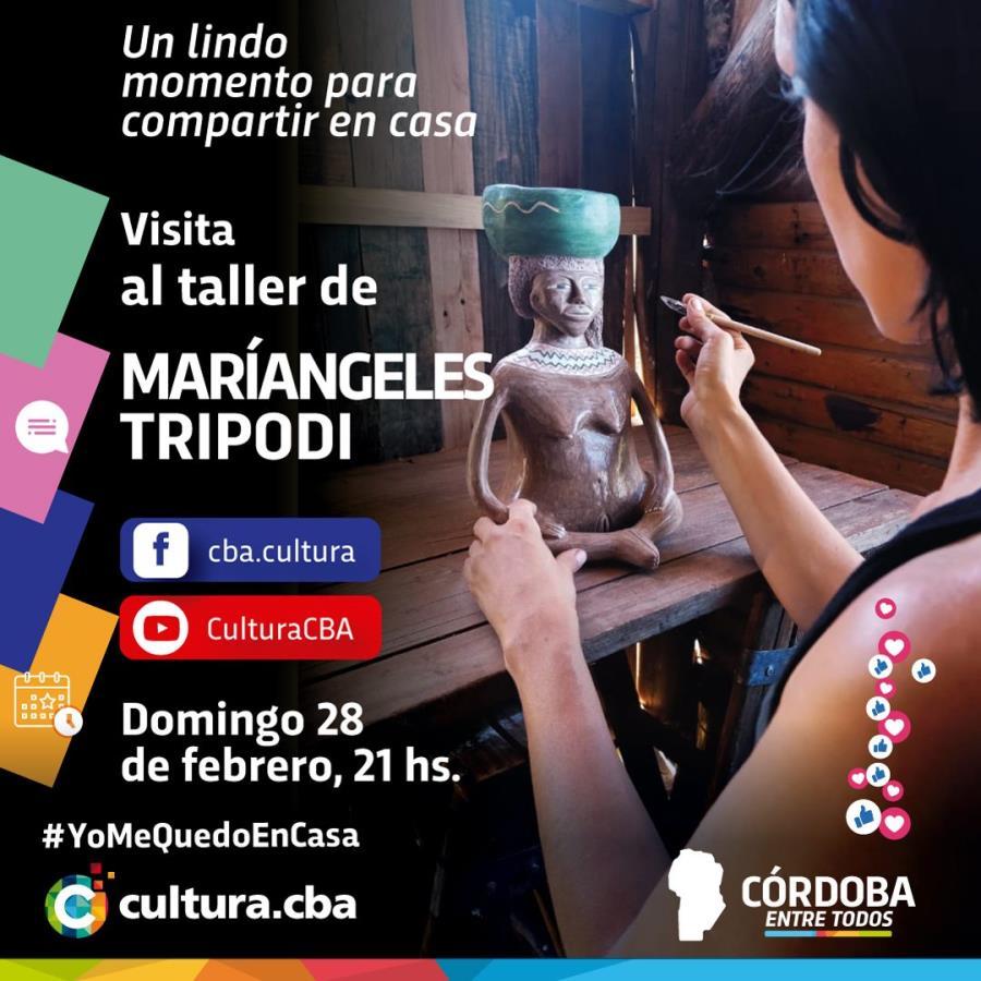 Visita al Taller de Maríangeles Trípodi (Agua de oro)