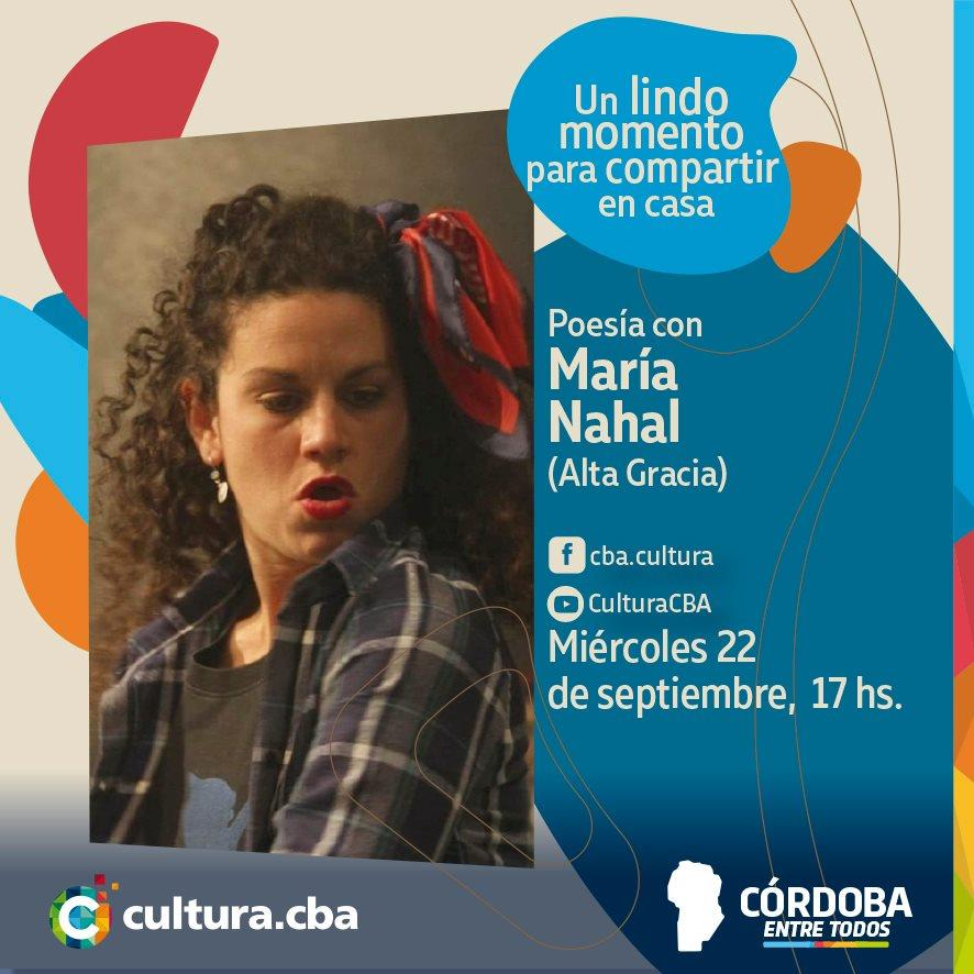 Poesía con María Nahal (Alta Gracia)