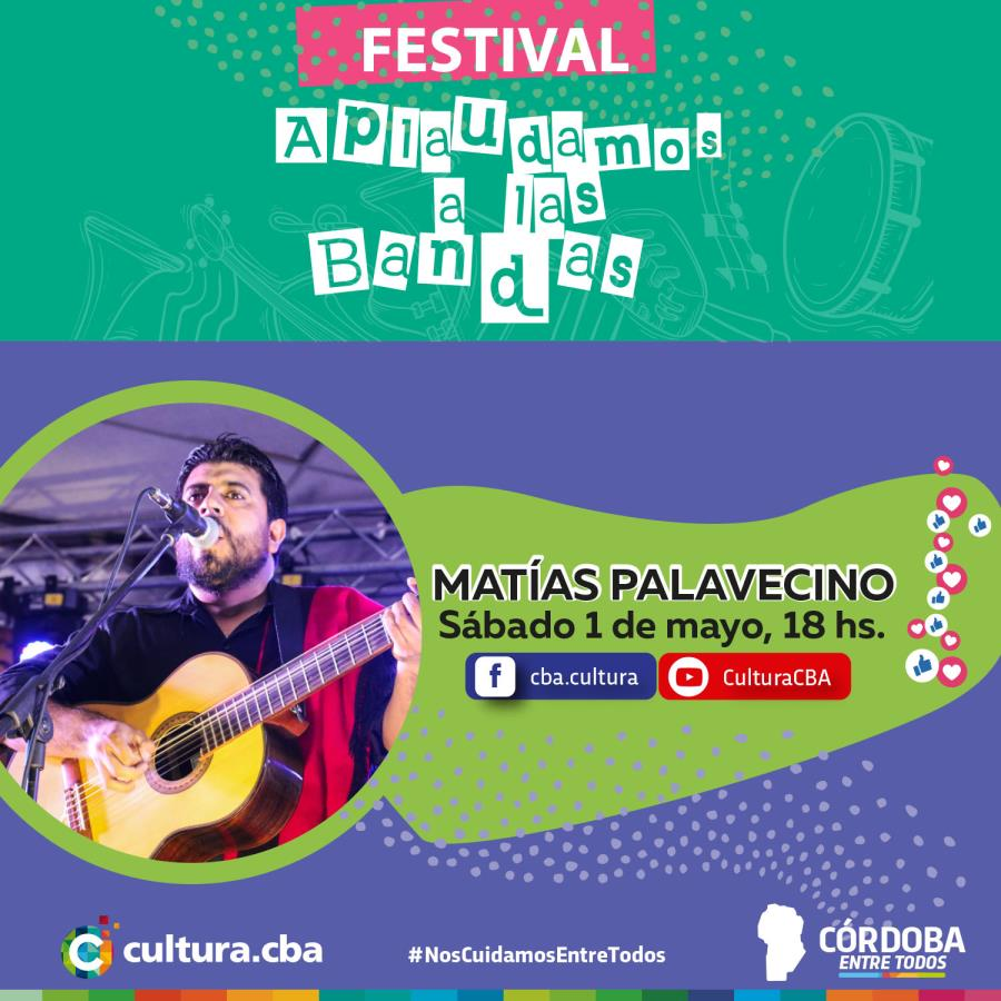 Matías Palavecino -Festival Aplaudamos a las bandas