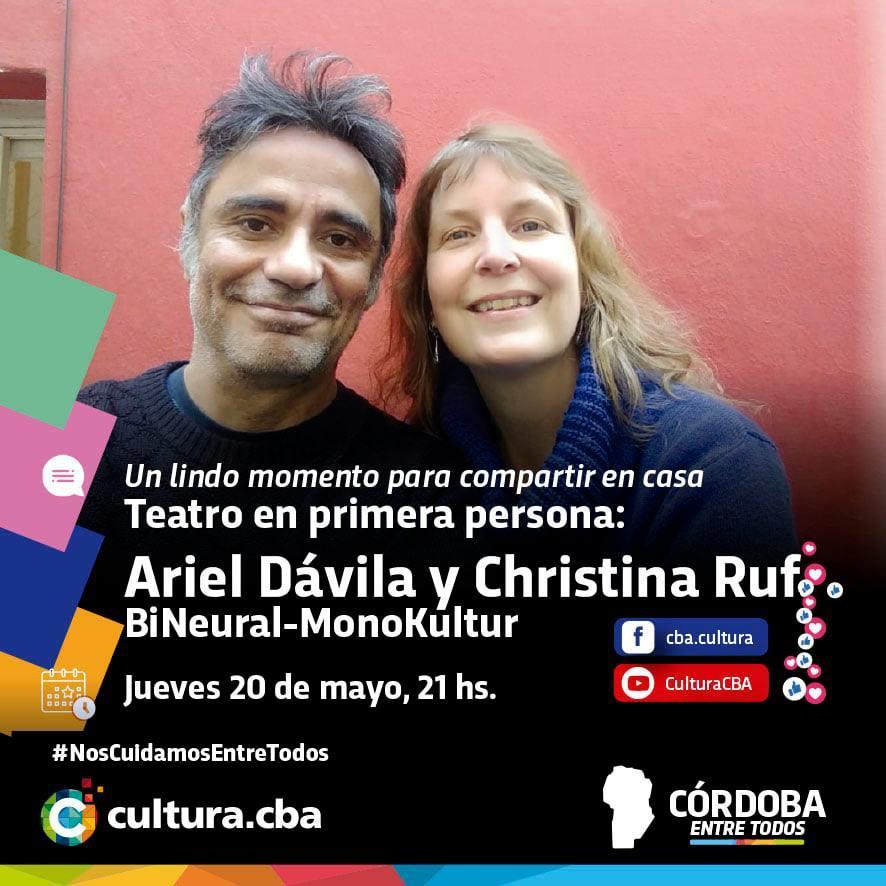 Teatro en primera persona: Ariel Dávila y Christina Ruf