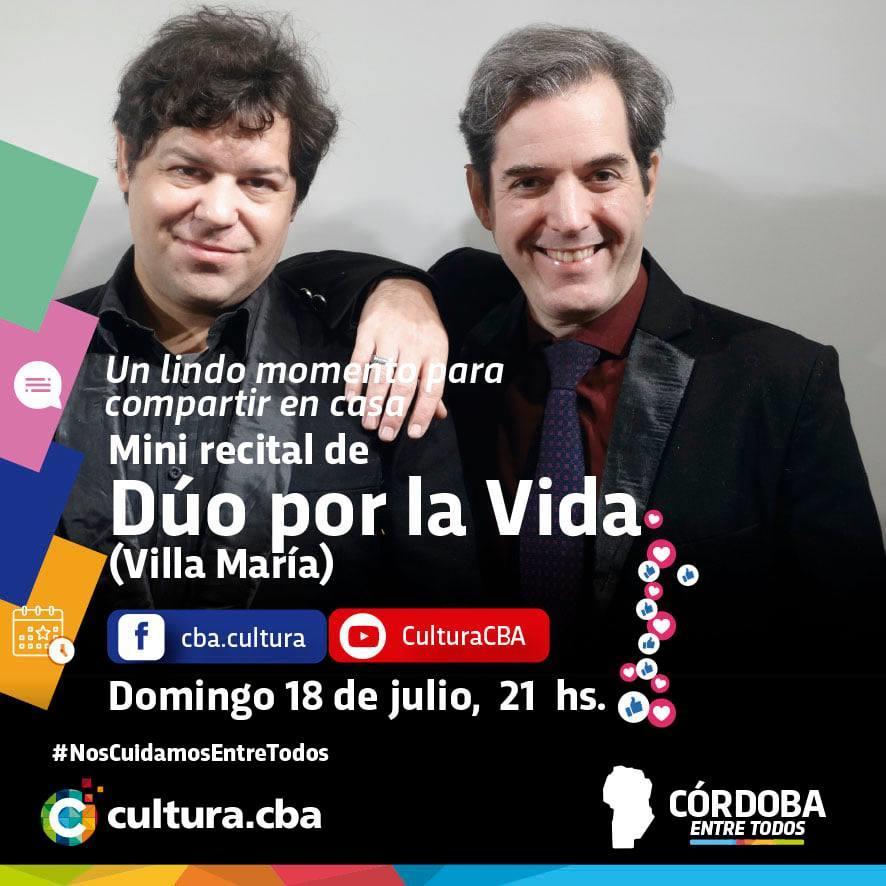 Mini recital de Dúo por la vida (Villa María)