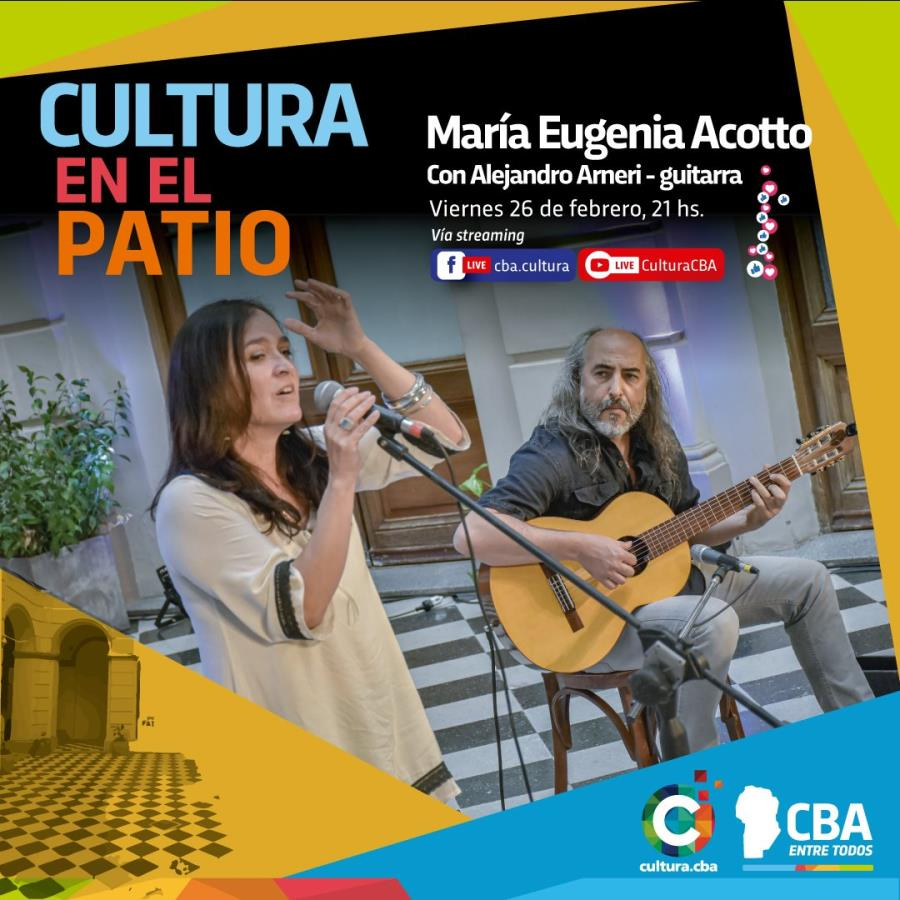Cultura en el Patio: María Eugenia Acotto