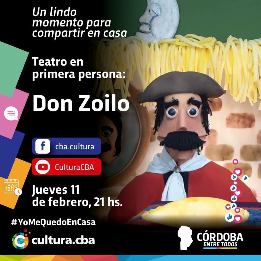 Teatro en primera persona: Don Zoilo