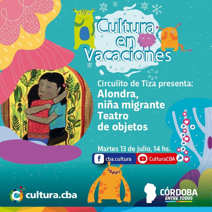 Cultura en vacaciones: Alondra, niña migrante (Teatro de objetos)