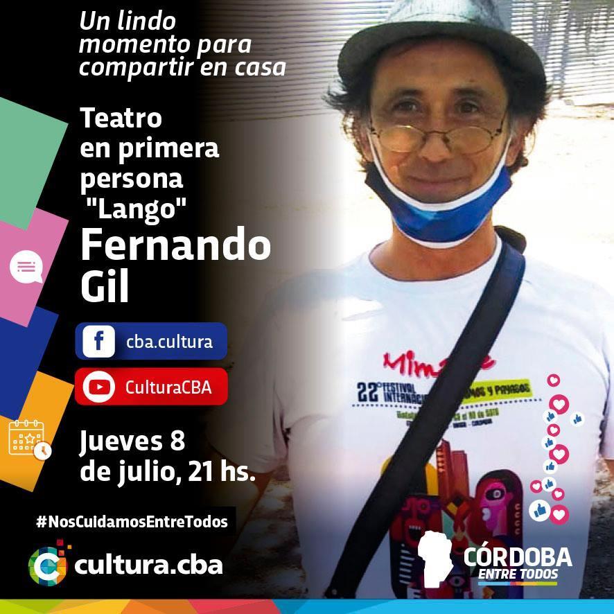 """Teatro en primera persona: """"Lango"""" Fernando Gil"""