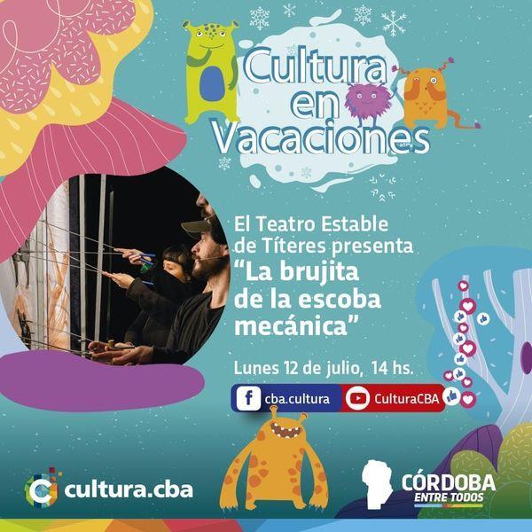Cultura en vacaciones: La Brujita y la escoba mecánica (Títeres)