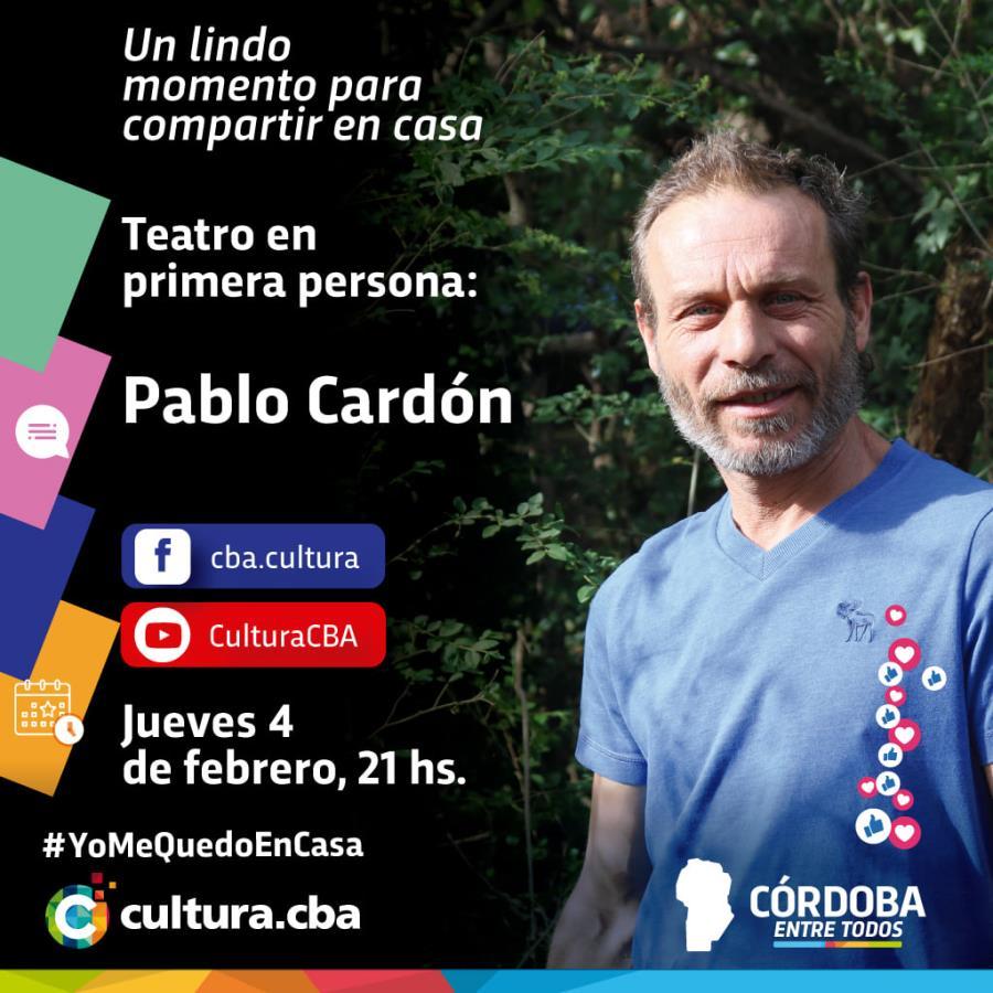 Teatro en primera persona: Pablo Cardón