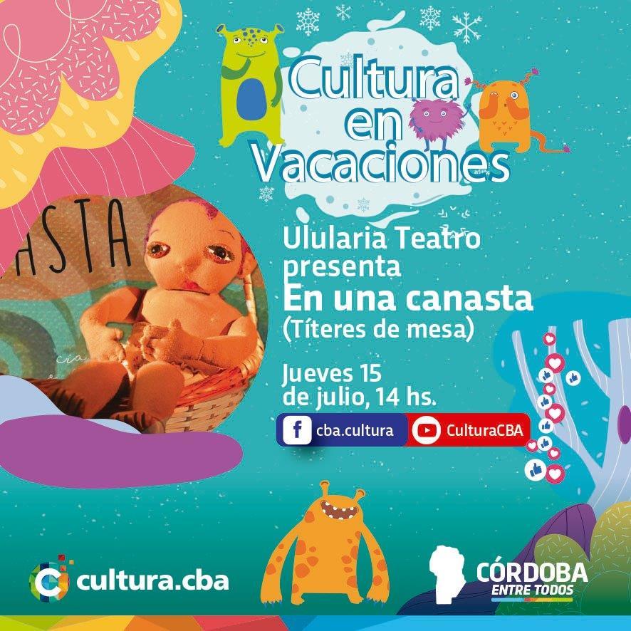 Cultura en vacaciones: En una canasta (Títeres de mesa)