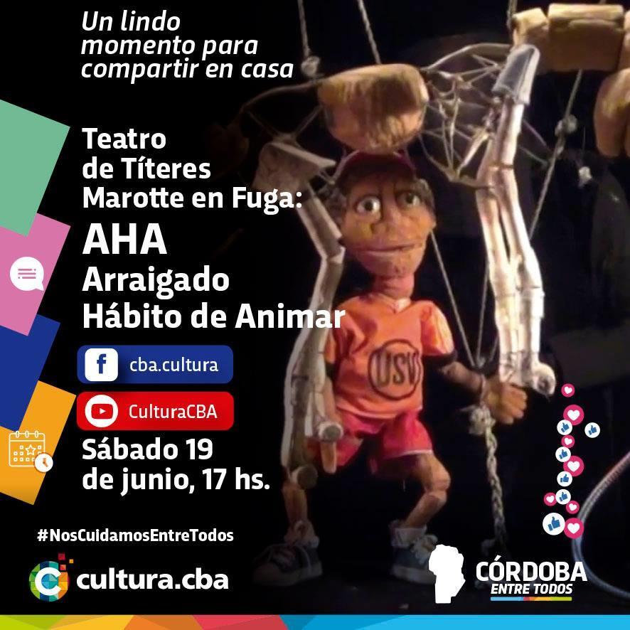 Teatro de Títeres Marotte en Fuga: AHA Arraigado Hábito de Animar