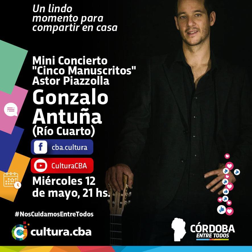 Mini concierto de Gonzalo Antuña