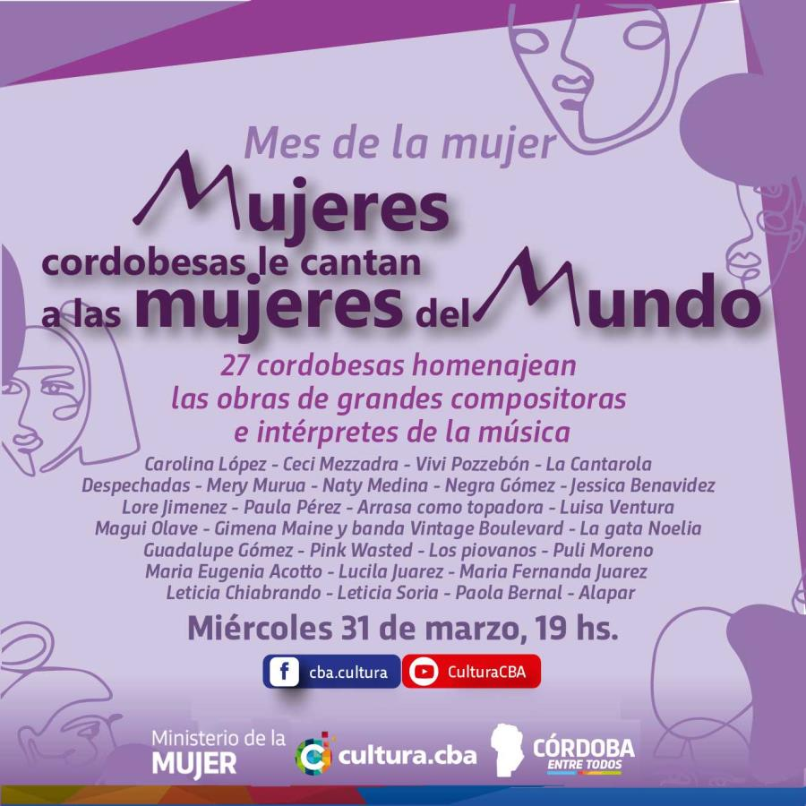 Mujeres de Córdoba le cantan a mujeres del mundo