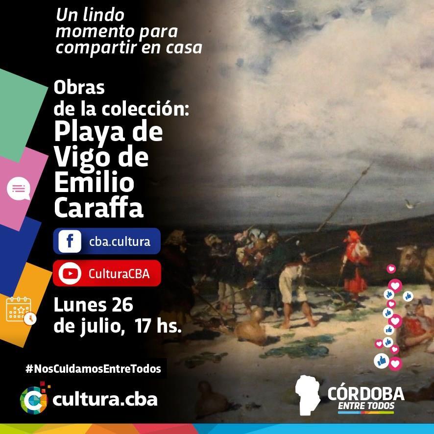 Obras de la Colección: Playa de Vigo de Emilio Caraffa
