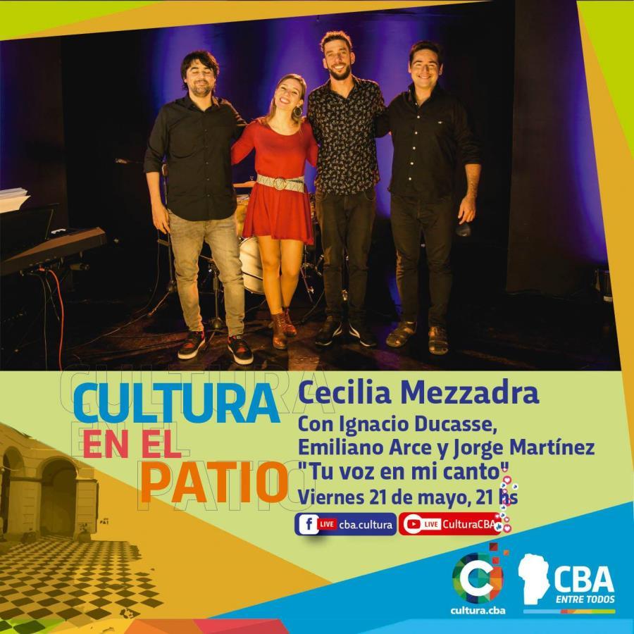 Cultura en el patio: Cecilia Mezzadra presenta Tu voz en mi canto