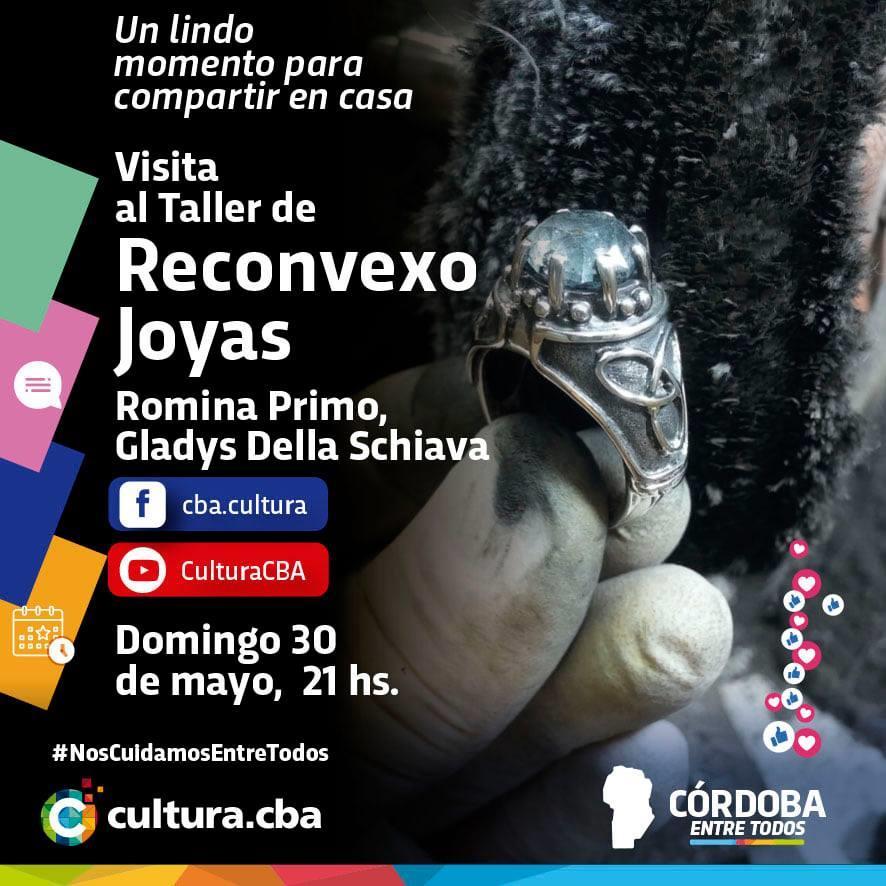 Visita al taller de Reconvexo Joyas de Romina Primo, Gladys Della Schiava.
