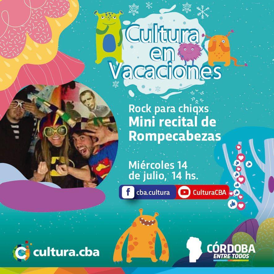 Cultura en vacaciones: Mini recital de Rompecabezas (Rock para chicos)