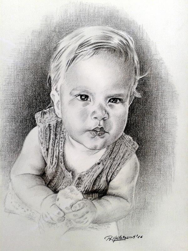Retrato a lápiz por encargo.